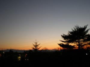 2009.12.03の夕焼け