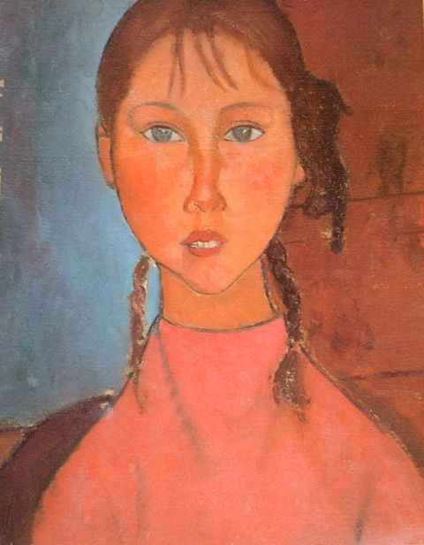 MODIGLIANI おさげ髪の少女