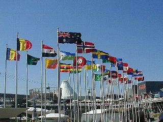 愛・地球博 はためく万国旗