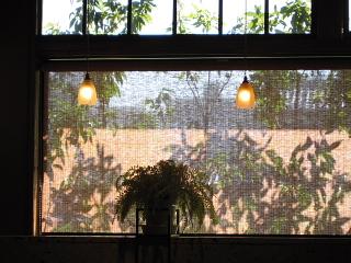 窓辺-近所のカフェで