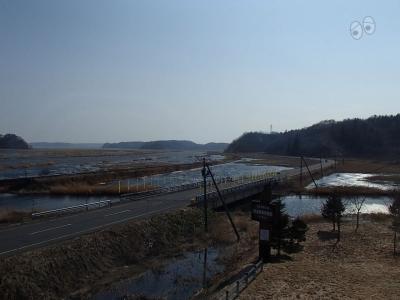 国道44号線、冠水