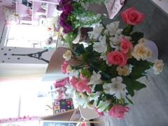 お花とエッフェル