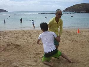 ハワイ稽古2