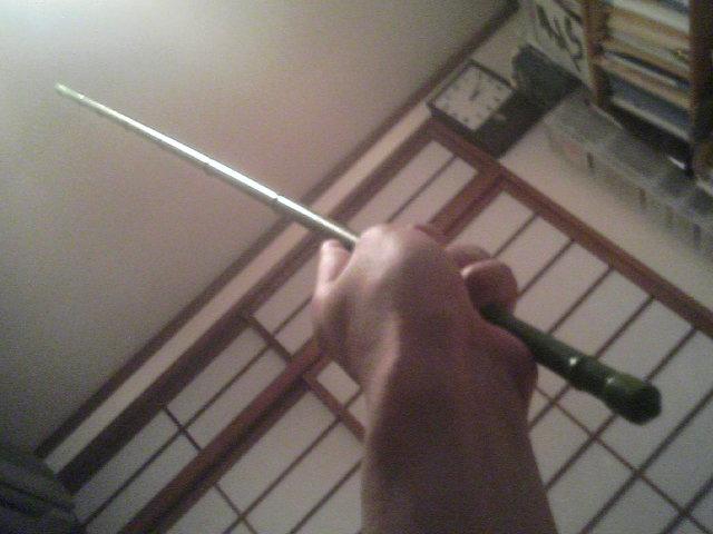 杖術を学ぶ棒