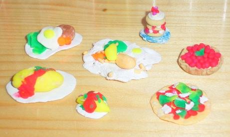 ミニチュアお菓子と料理(作:嫁)