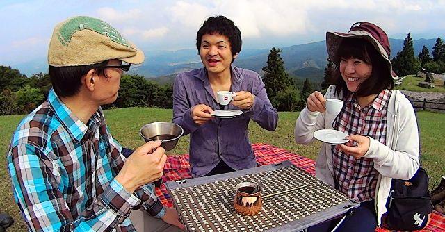 青山高原で山コーヒー