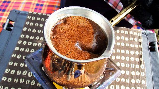 カリタイブリック300でトルココーヒー