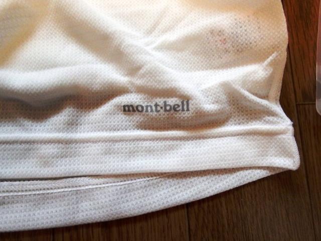 モンベルクールメッシュのロゴ透け具合