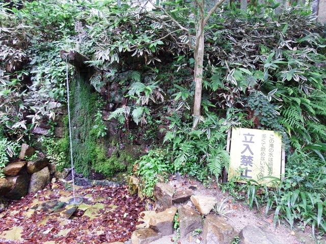 奥の院の境内近くの水場 飲用不可