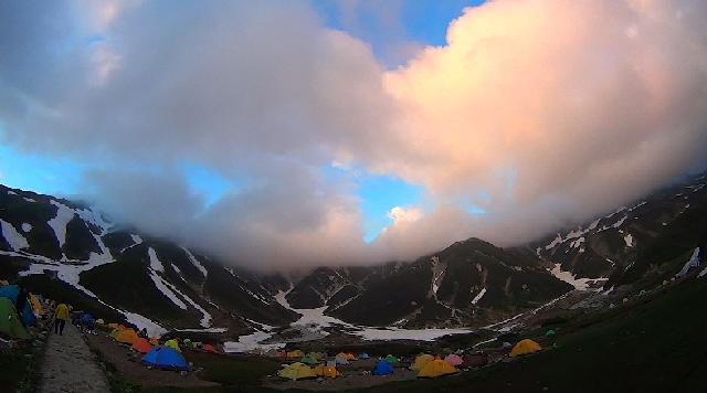 雷鳥沢キャンプ場テント