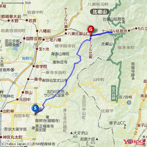 京都トレイル東山の地図