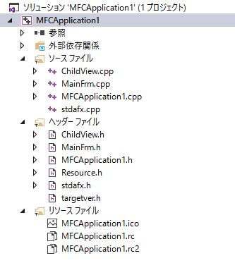 VisualStudio,MFC,SDI,CListCtrl,ソリューション,プロジェクト構成,