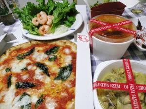 ピザはいつもマルゲリータ♪