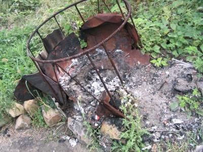 近所での焼却