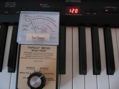 電子ピアノ 電磁波カット後の結果