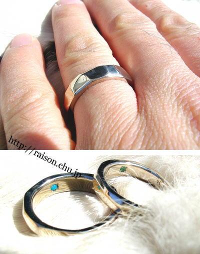 シンプルで飽きず、沢山の方に好まれるデザインの結婚指輪。