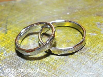 シルバー、結婚指輪。
