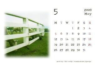 2008年5月のカレンダー