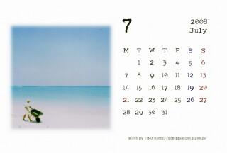 2008年7月のカレンダー