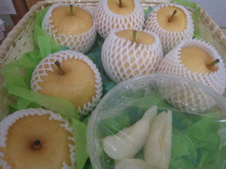 5割減農薬・梨