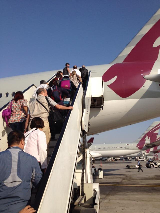 ドーハにてブエノス行きの便に乗り継ぐ