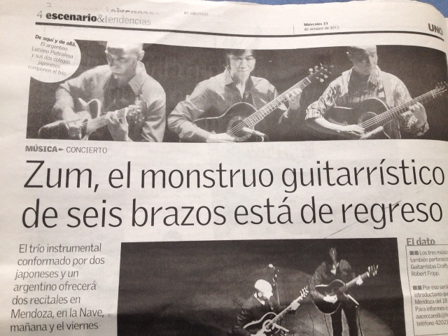 地元新聞では「ギター怪物」の見出しが!しかし怪物もメッシにはかなわなかった・・・