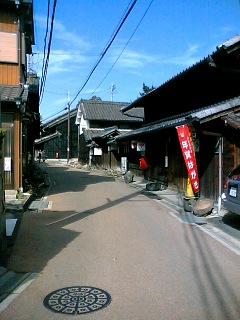 小田井宿の風景