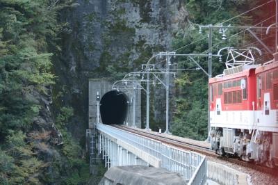 アブト式機関車がトンネルに入る処