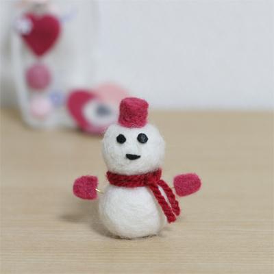 フェルトで作る雪だるまがふかふか可愛い♡素敵なアイデア集♪