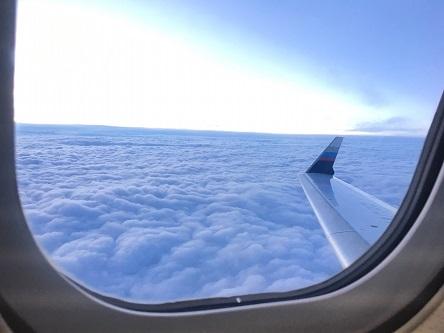 雲の上をひとっ飛び