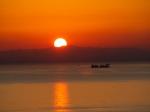 高津子山の夕陽