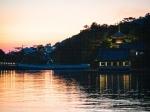 和歌の浦干潟の夕陽