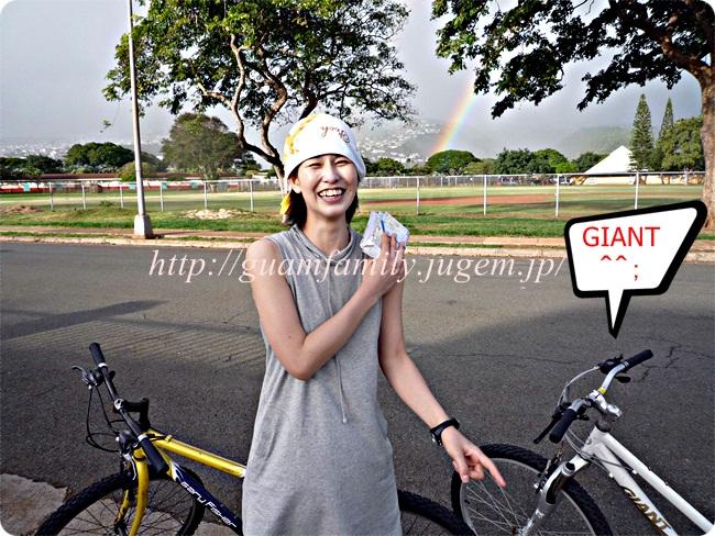ハワイのレンタルサイクリング虹