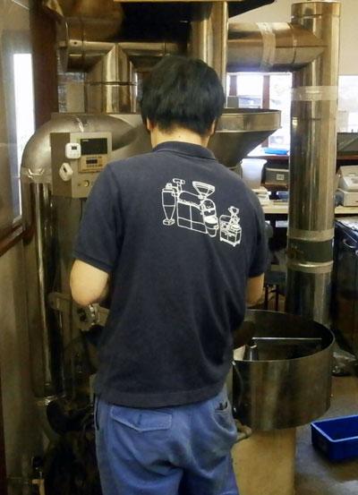 コーヒー生豆焙煎機メンテ