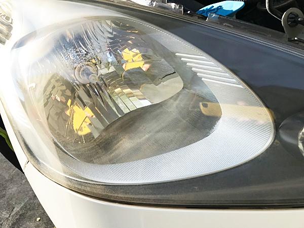 ヘッドライトの黄ばみ除去