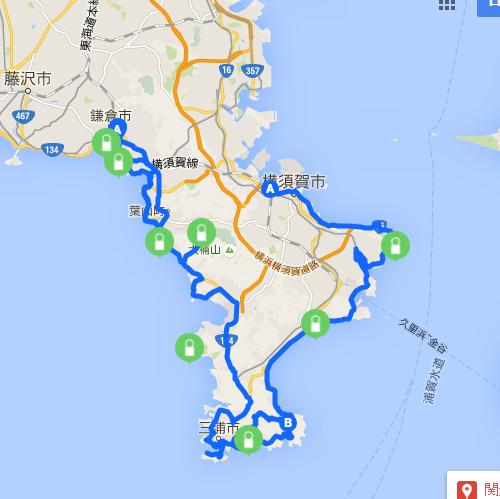 三浦半島サイクリングマップ