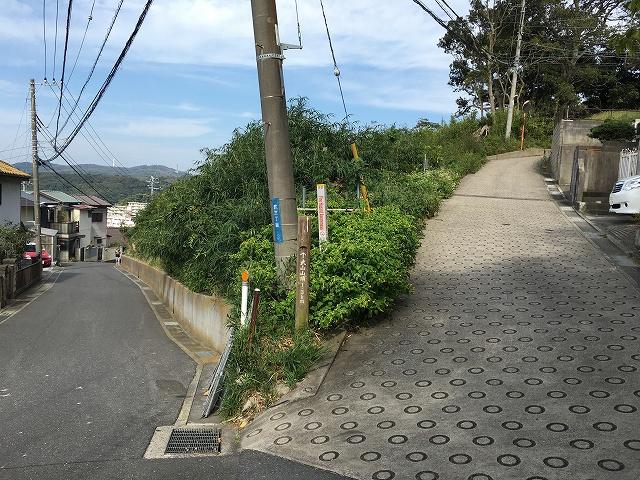武山山頂への入り口