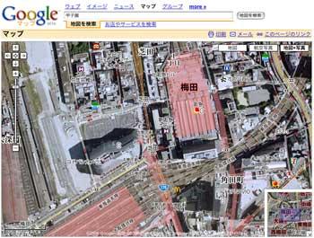 Google Mapに地図+写真機能が追加