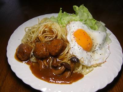 スパゲティー ロコモコ風