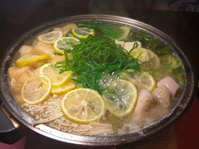 爽やかな風味〜〜〜柚子鍋