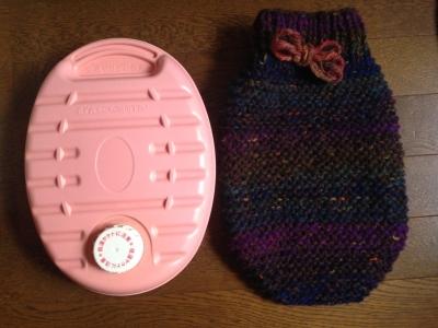 手編みのゆたんぽカバー