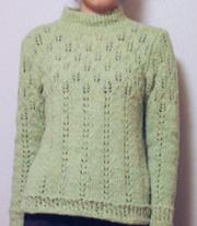 セーター緑