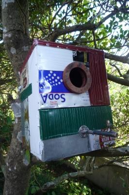 ブリキのパッチワーク巣箱