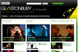 BBC Glustonbury Site