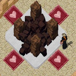 チョコレートの山