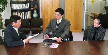 教育長と座談