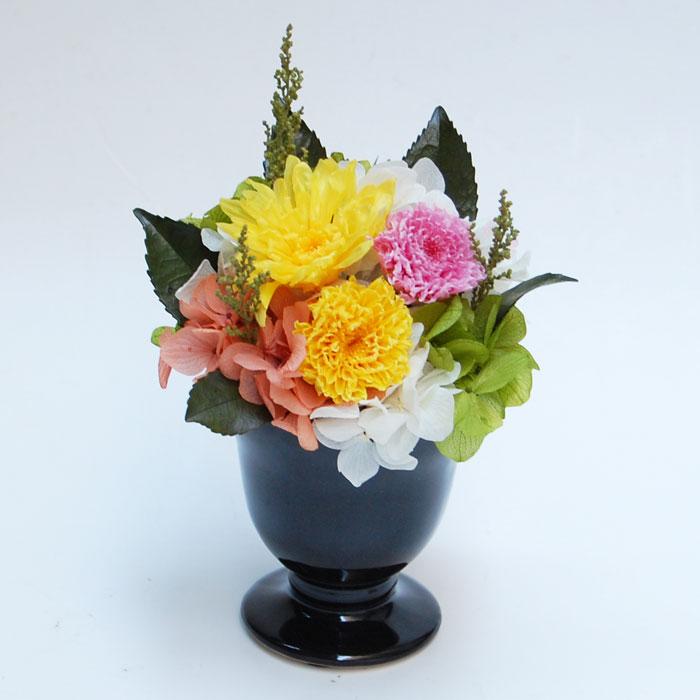 プリザーブドフラワーの仏花「佳月」かげつ