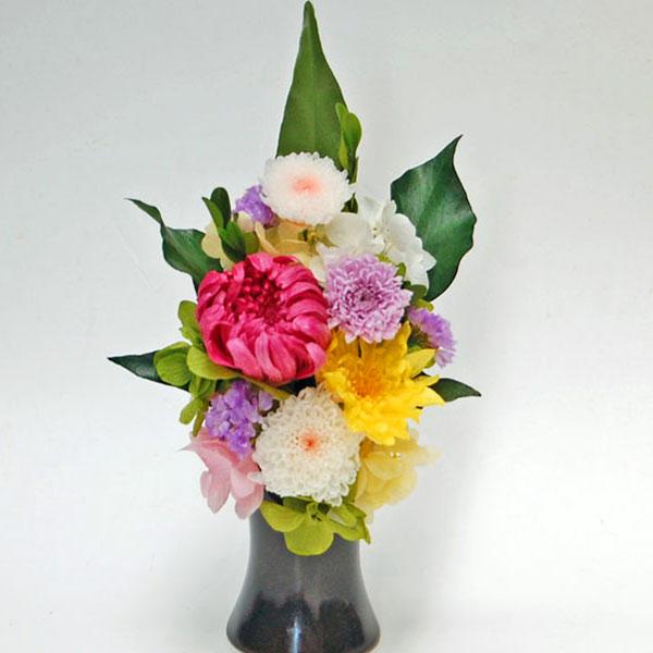 プリザーブドフラワーの仏花「万葉」まんよう