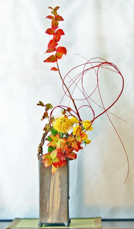 紅葉の生け花1