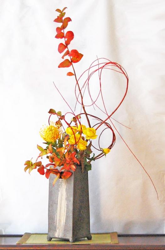紅葉の生け花2